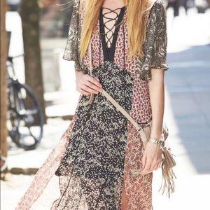 Zara Woman Patchwork Floral Maxi Dress